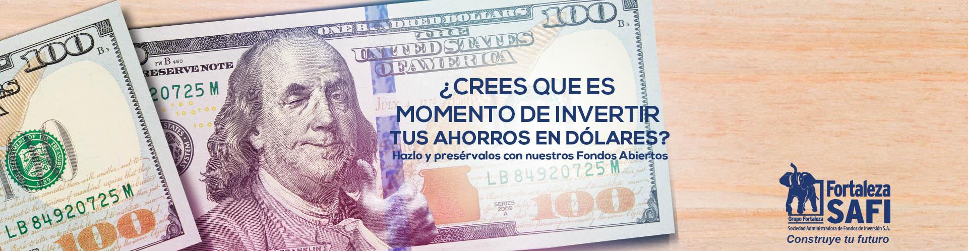 Invierte en dólares